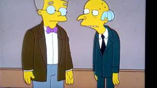 Simpsons: gay moment ( mr burns and mr smithers)