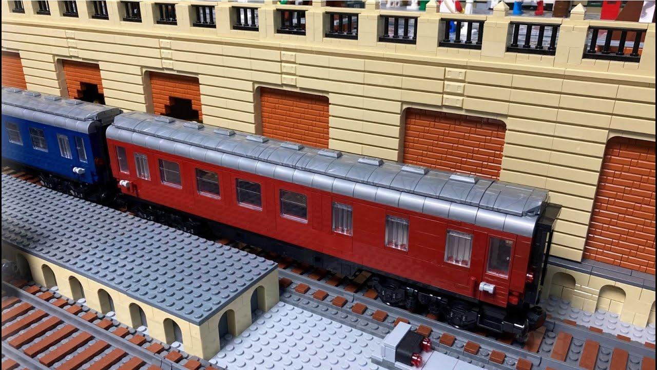 Dietmar´s Brick-World 78 Speisewagen rot BlueBrixx 102958 bau, Testfahrt und neue Lieferung