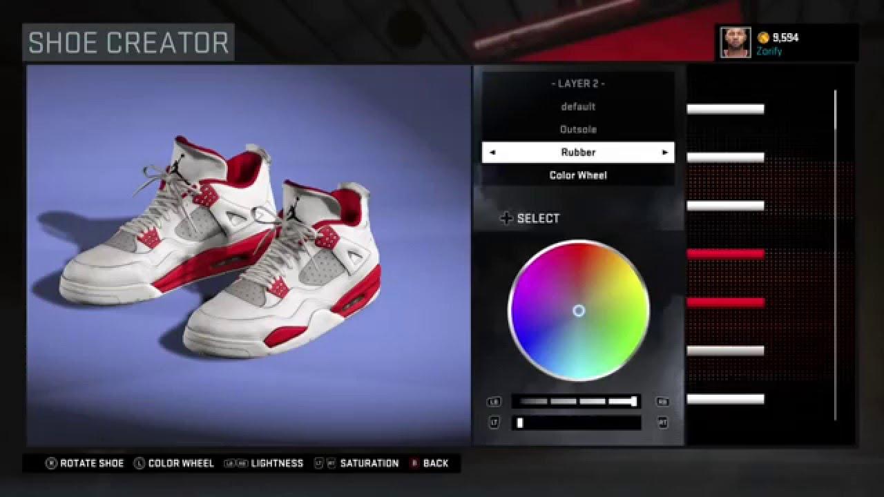 aebb749aadc449 NBA 2K16 Shoe Creator - Air Jordan 4