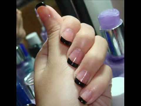 - How I Do French Tip Nails (using Black) - YouTube