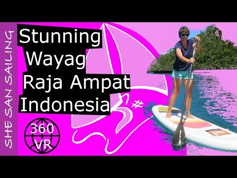 Stunning Wayag in Raja Ampat, Indonesia - SHE SAN Sailing (360 VR)