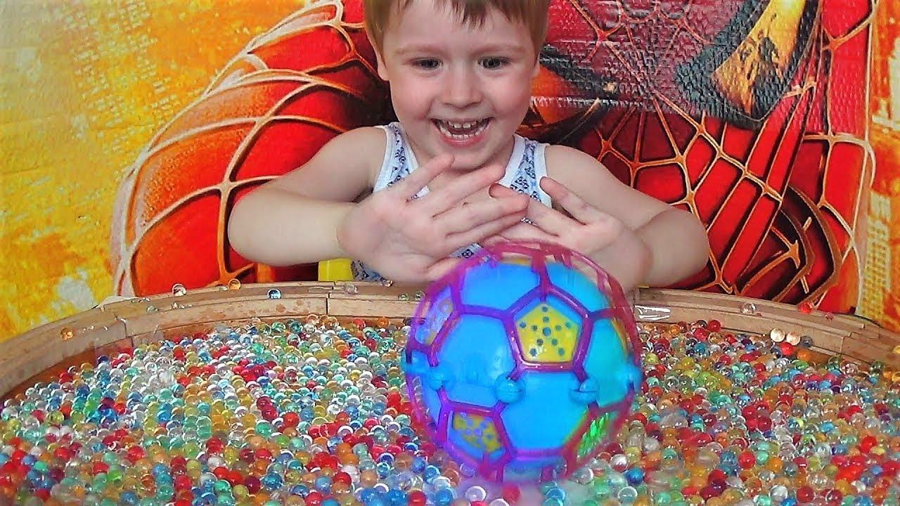 Игры для детей - Шарик прыгает в орбизы - Развлечения для детей