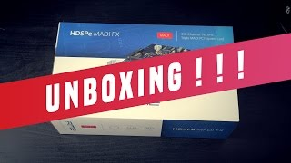RME HDSPe Madi FX PCI Express Soundcard (Unboxing)