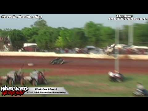 Wrecked Wednesday 11 Bubba Hunt flip at I 44 Riverside Speedway 2012