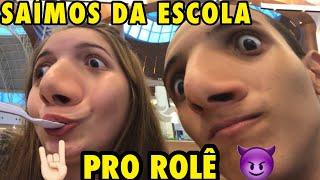 SAÍMOS DO COLÉGIO E FOMOS PRO ROLÊ | Vlog na escola #8