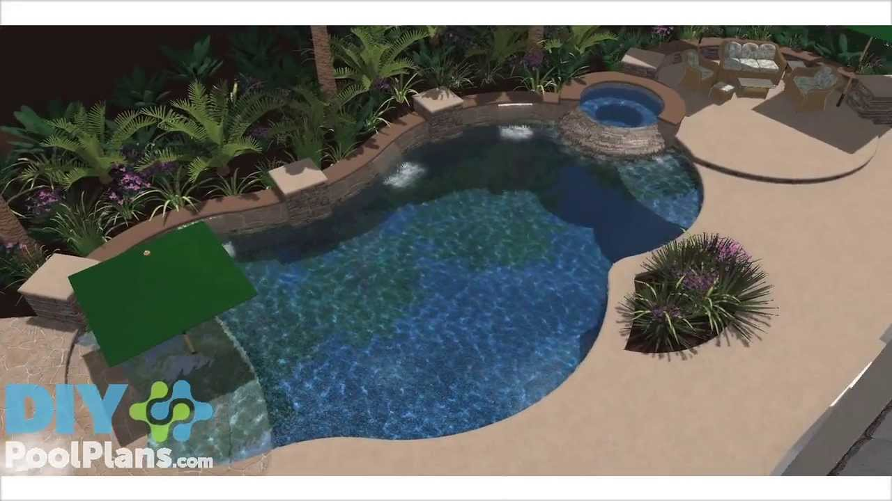 Swimming pool and spa with beach entry youtube for Pool and spa show wa