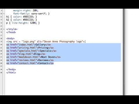 HTML5 - Creating Navigation Links