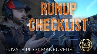 How to fly in 360 & VR: Engine Runup and Checklists
