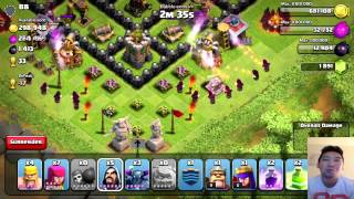 Clash Of Clans LVL 40 KING AND QUEEN DEFENDED - RUSHING TO CHAMP #3 ALL ARCHERS