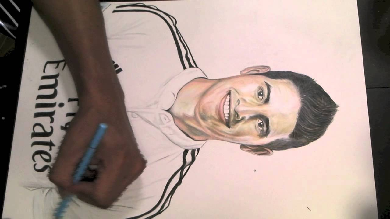 Pencil Drawing James Rodriguez Jasu Youtube