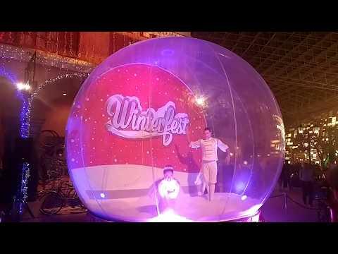 Ferrari World Snow Globe Dancers 2017 Christmas Winterfest, Yas Island, Abu Dhabi