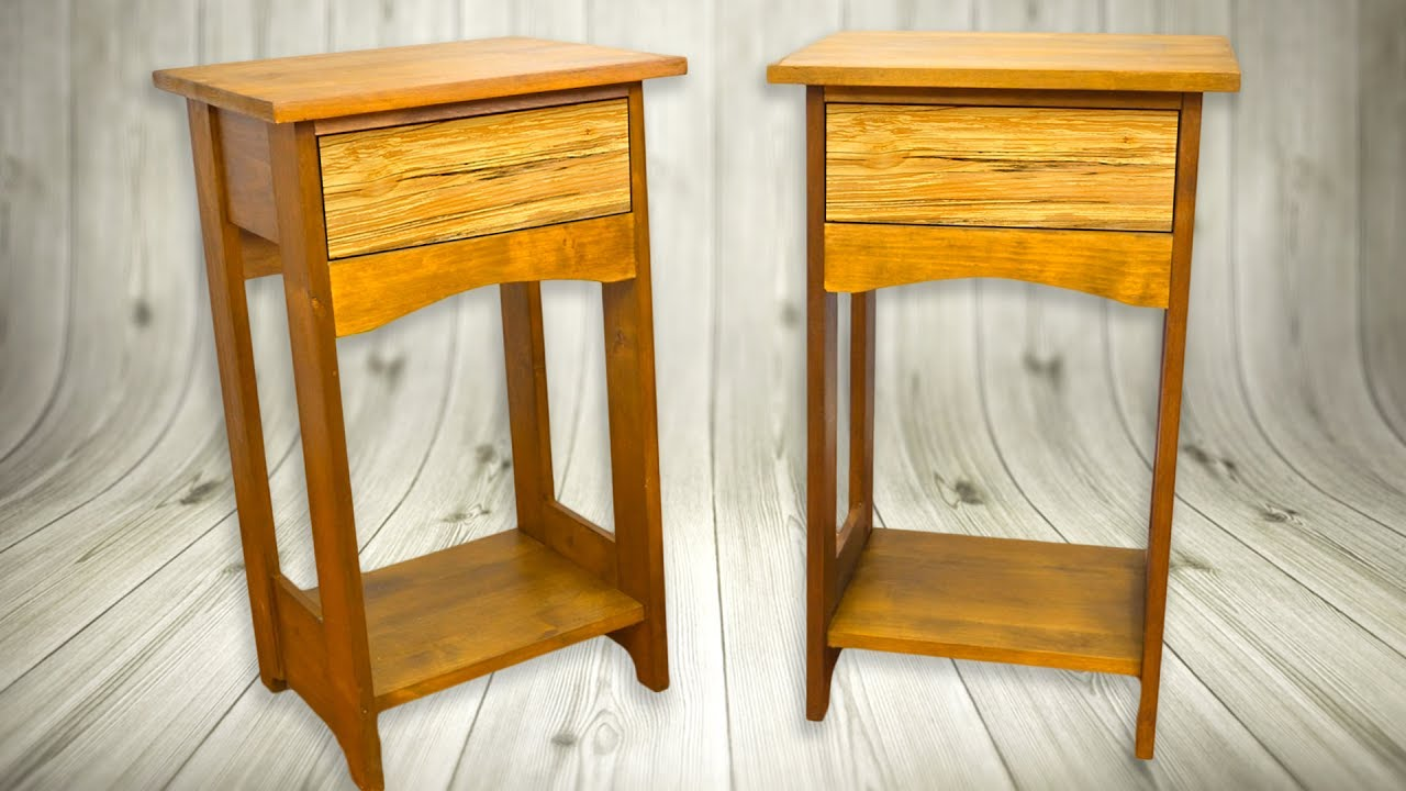 Make Bedside Tables Nightstand Arts Crafts Style Woodworking Projects