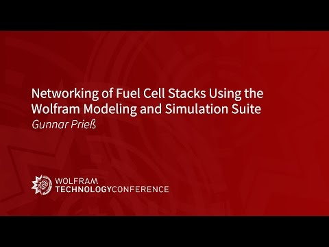 Networking of Fuel Cell Stacks Using the Wolfram Modeling & Simulation Suite