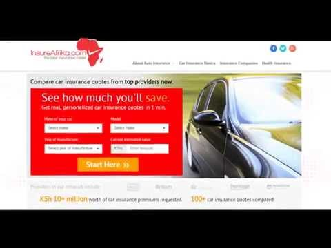 How to get Car Insurance using InsureAfrika.com