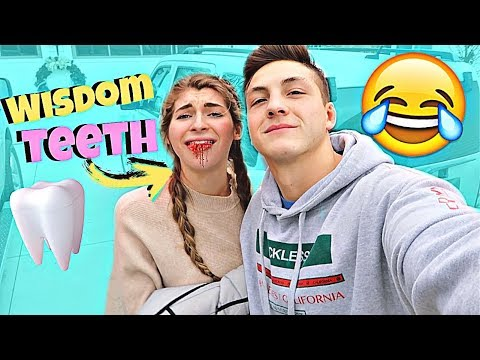 Getting My WISDOM TEETH Removed! Funny reaction