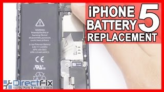 new iphone 5 battery replace repair shown in 5 minutes