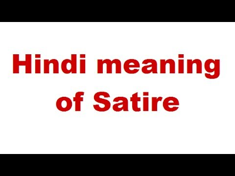 Hindi Meaning Of Satire Youtube