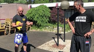 Defending vs High Side Kick, with Amnon Darsa at Expert Camp, Institute Krav Maga Netherlands.
