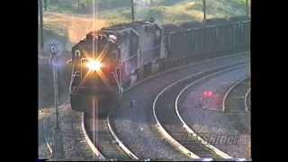 Tehachapi_(1990) SP Coal Train With 13 Locomotives ***(300th Video)***