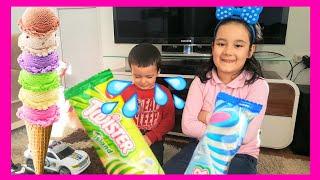 Aysima ve Anıl Dondurmaları paylaşamadı ! Anıl Dondurmasını yere düşürdü çok ağladı.