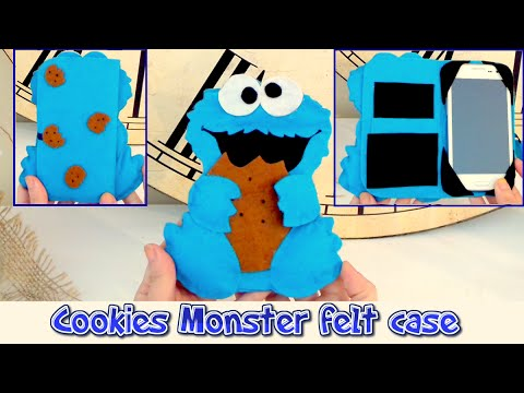 diy-crafts:-phone-case-like-the-cookie-monster,-easy-crafts---handmade---isa-❤️