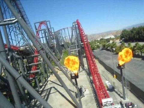 X2 Front Seat on-ride POV Six Flags Magic Mountain