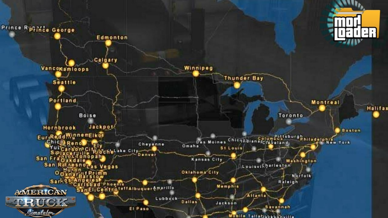 Download MODs American Truck Simulator Mexuscan 1 7 ATS Map