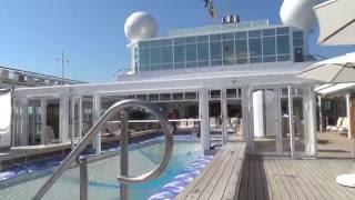 MS Europa Luxuskreuzfahrt Hapag Lloyd Cruises Kreuzfahrt Lido Deck Pool Bar Schwimmbad Promenad