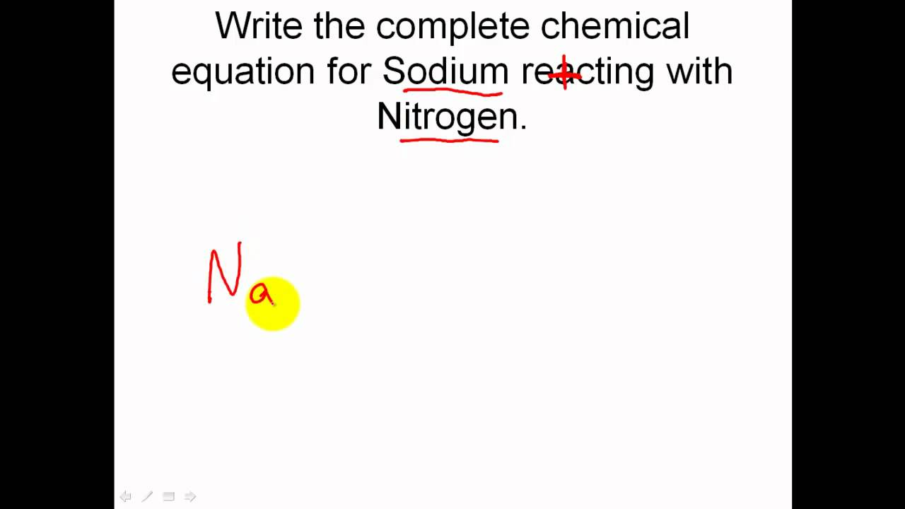 Solving Chemical Reaction Word Equations - finishing the reaction image