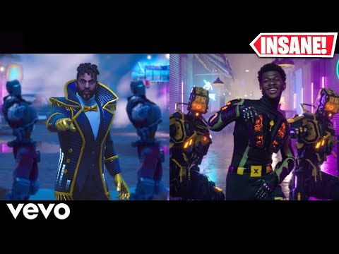 Lil Nas X - Panini - Fortnite Music Video vs Original (Side By Side)