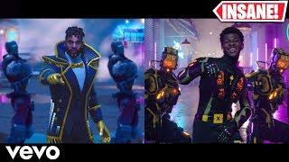 Lil Nas X - Panini - Fortnite Music Video vs Original (Side By Side)