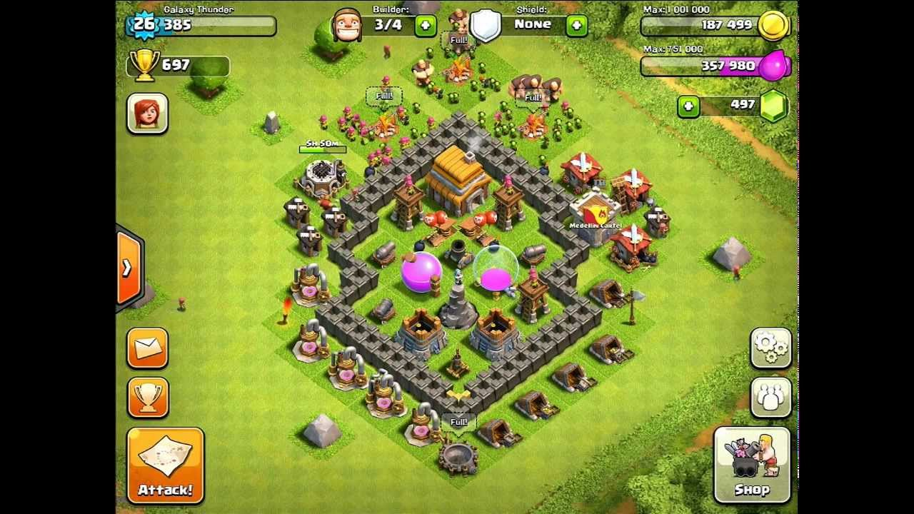 Clash Of Clans Town Hall Level 5 - Best Defense Strategy ...