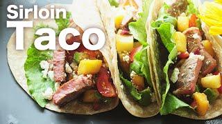 穀飼西冷牛排 Taco  吃過一次就回不去了  Grain-fed Sirloin Steak Taco with Pineapple Salsa Recipe