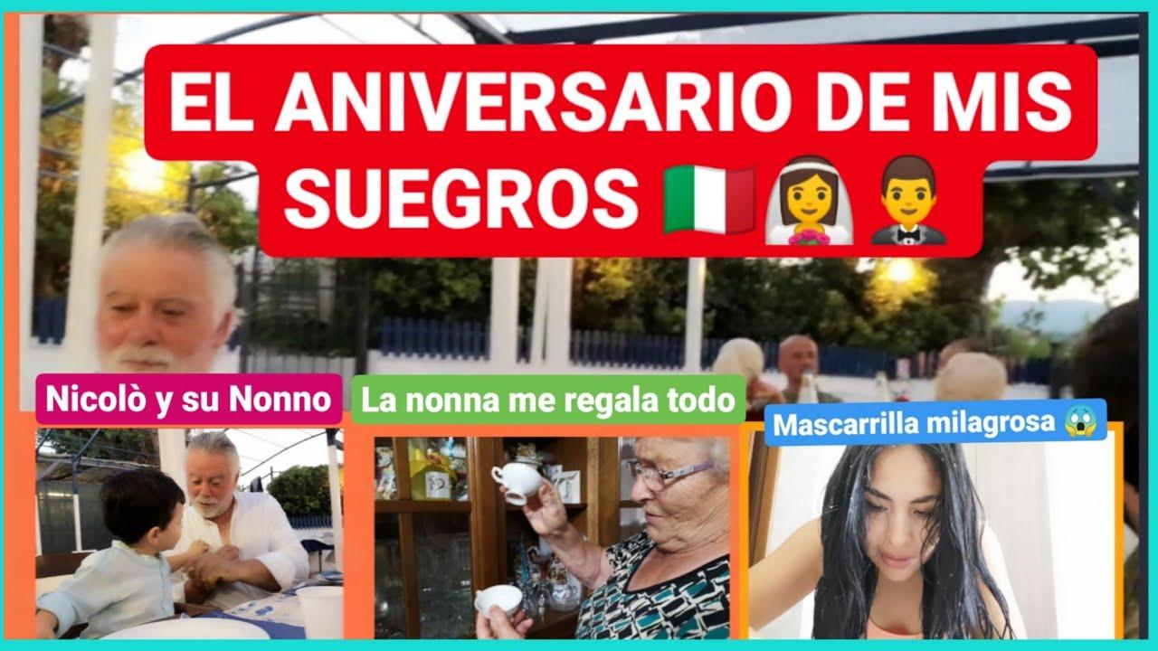 MIS SUEGROS 36 años 👰🤵 + mascarilla milagrosa + me regala todo 😱 / peruana en Italia