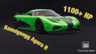 The Crew 2/// 1100+ HP Koenigsegg Agera R customization/tuning