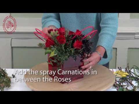 How to Make a Valentine's Day Flower Arrangement