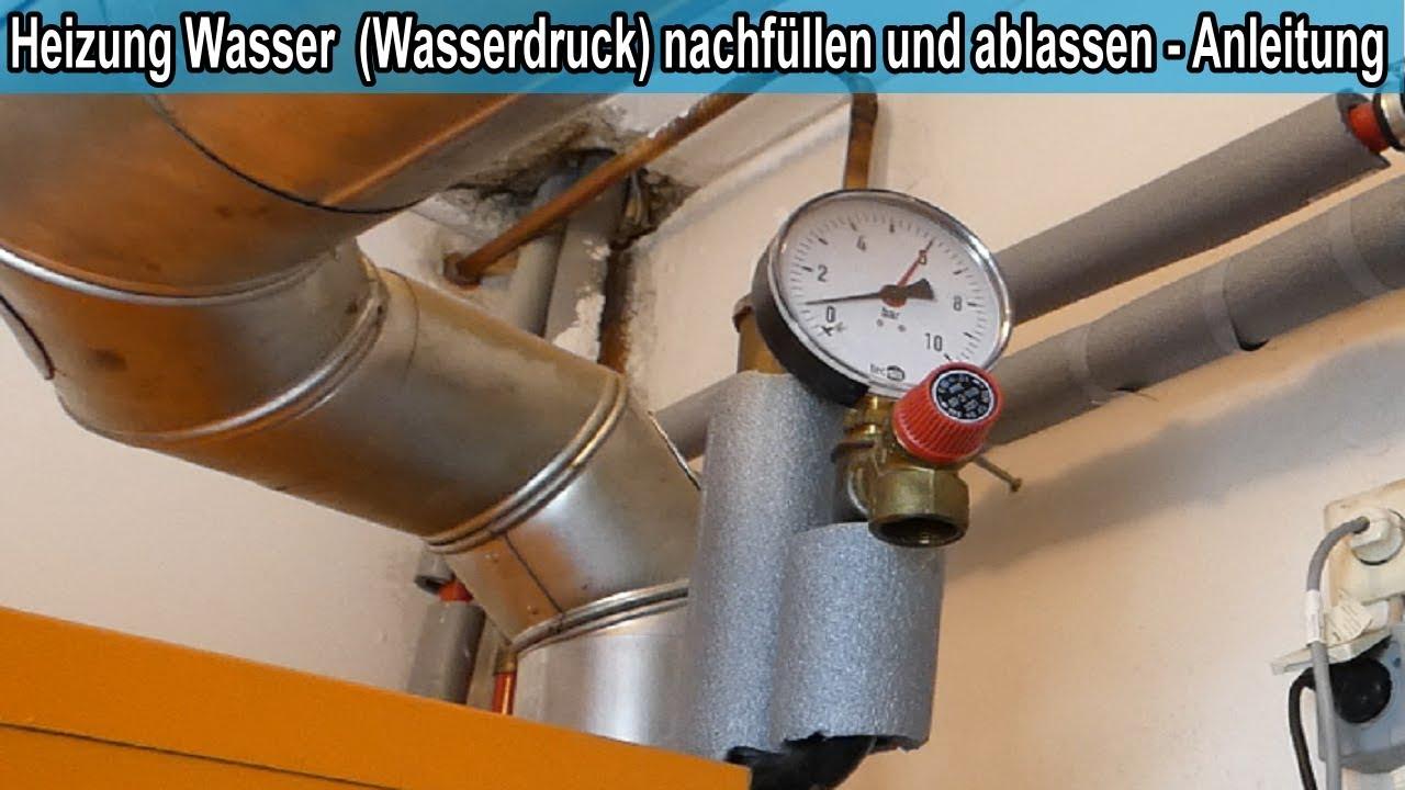 Heizung Wasser Nachfullen Anleitung Gastherme Therme