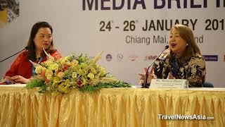 Philippines Tourism Press Conference at ASEAN Tourism Forum 2018 in Chiang Mai, Thailand