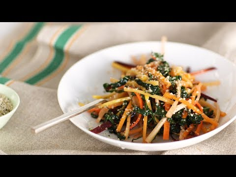 Julienned-Carrot and Kale Salad- Healthy Appetite with Shira Bocar