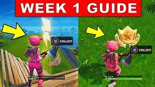 Fortnite WEEK 1 SEASON 5 CHALLENGES GUIDE! – SEARCH FLOATING LIGHTNING BOLT LOCATIONS, BATTLE STAR