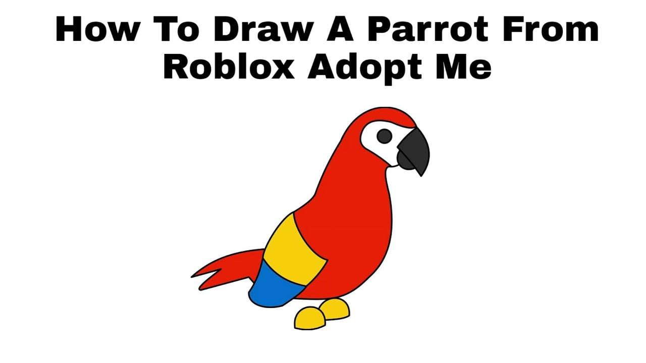 How To Draw A Parrot From Roblox Adopt Me Step By Step Youtube