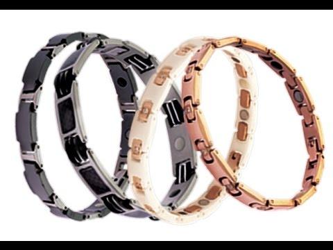 Титановые магнитные браслеты