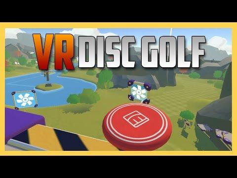 VR DISC GOLF - my FAVORITE VR multiplayer game!  (Rec Room)