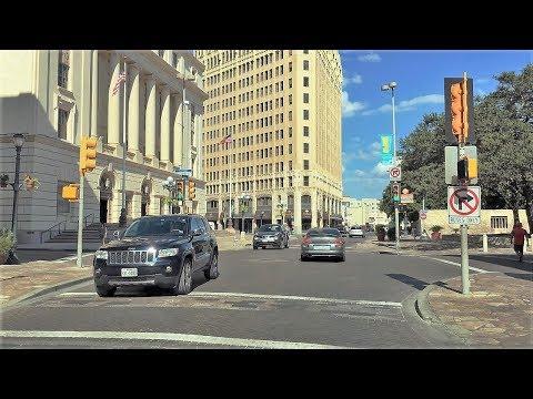 Driving Downtown - San Antonio Texas USA