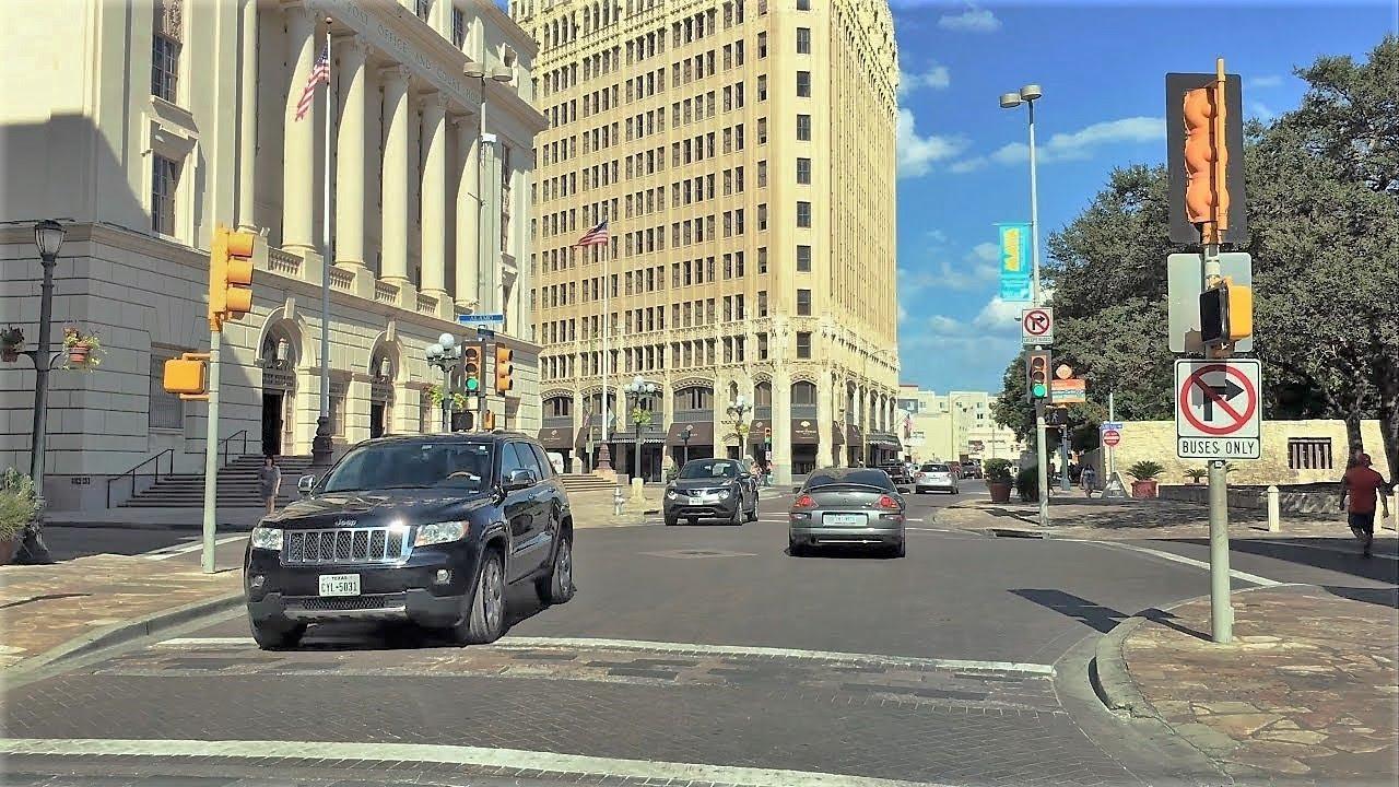 Driving Downtown San Antonio 4k Texas Usa Youtube