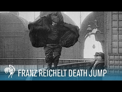 Franz Reichelt's Death Jump off the Eiffel Tower (1912) | British Pathé