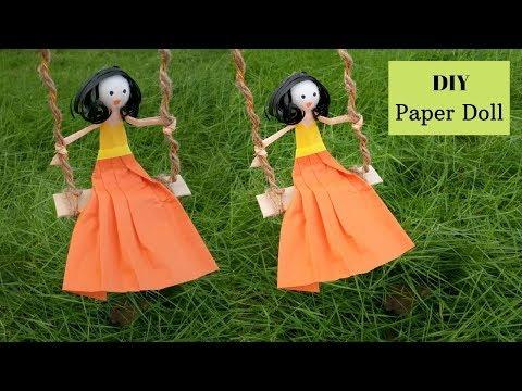 DIY Handmade Paper Doll making tutorial By Aloha crafts