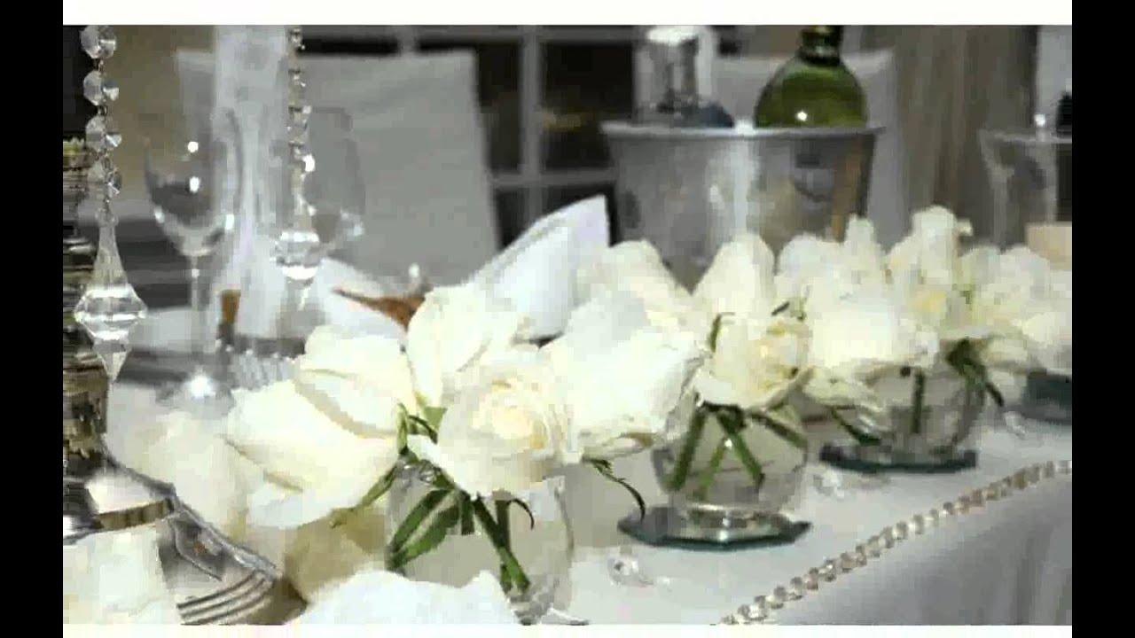 Blumendeko Tisch Hochzeit  bilder  YouTube