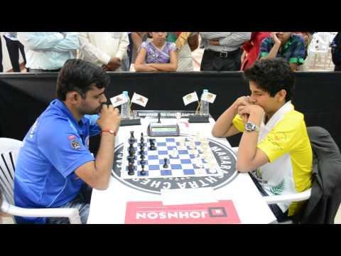 Start of Vidit Gujarathi – Himanshu Sharma game from Finals