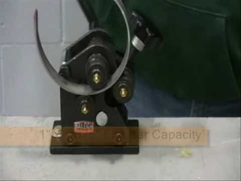 Baileigh R-M3 Ornamental Roll Bender, Metal Ring Roller, Manual Rolling Machine, Angle Roll